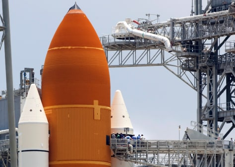 Image: Endeavour on launch pad