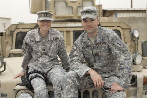 Image: U.S. Army captains Jennifer Williams and Nathan Williams