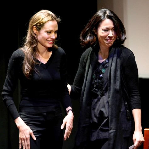Image: Angelina Jolie, Ann Curry