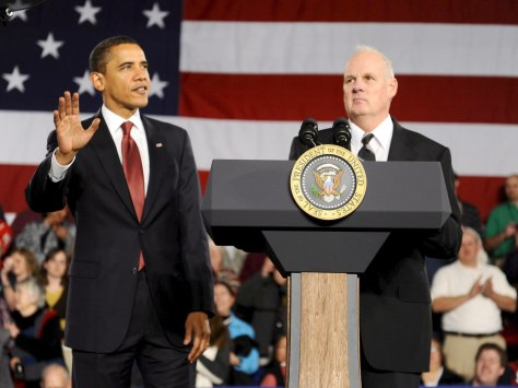 President Barack Obama with Ed Neufeldt of Elkhart