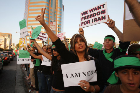 Image: Iranian-American protesters