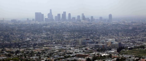 Image: Smog covers downtown Los Angeles