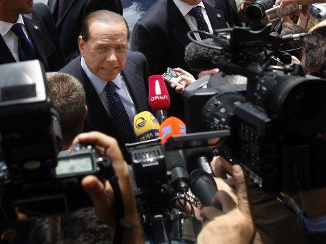Image: Italy's Prime Minister Silvio Berlusconi