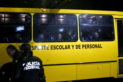 Image: Ninety two police agents of Hidalgo, Mexican state detained