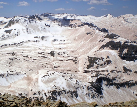 Image: Dust atop snow in Rocky Mountains