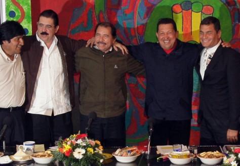 Image: Evo Morales, Manuel Zelaya, Daniel Ortega, Hugo Chavez, Rafael Correa