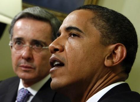 Image: Alvaro Uribe, Barack Obama