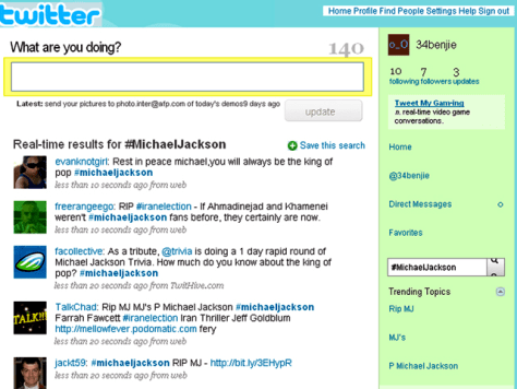 Image: tweets on the micro-blogging site Twitter