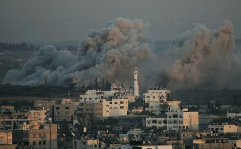 Image: Smoke rises over Gaza