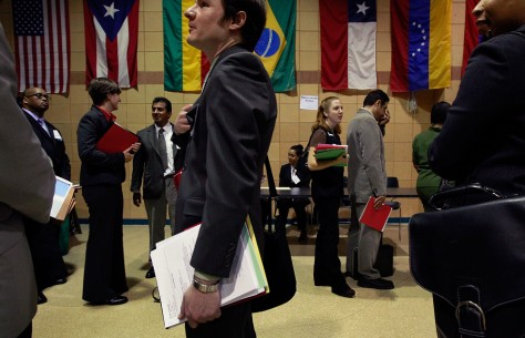 Image: Job seekers in Chicago