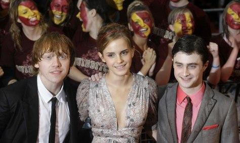 Image: Rupert Grint, Emma Watson and Daniel Radcliffe