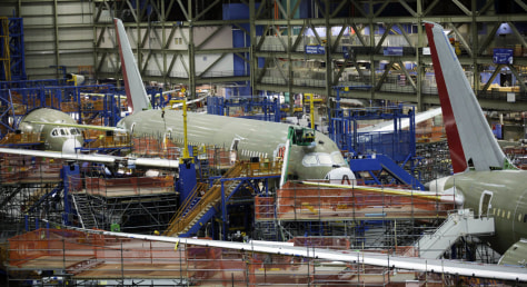 Image: Boeing 787 plant in Everett, Wash.