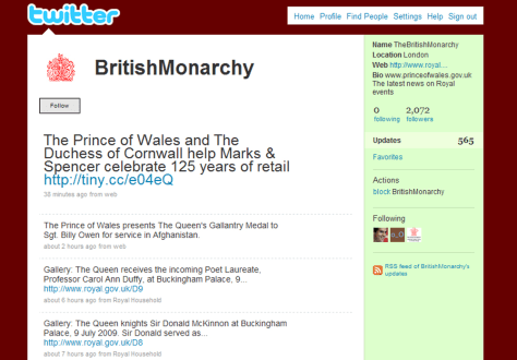 Image: British Monarchy twitter page