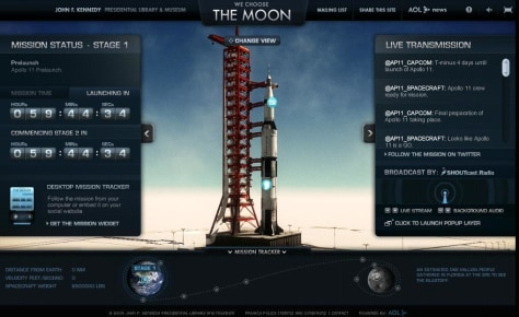 "Image: ""We Choose the Moon"" Web site"