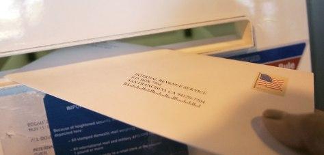 Image: Mailing a return