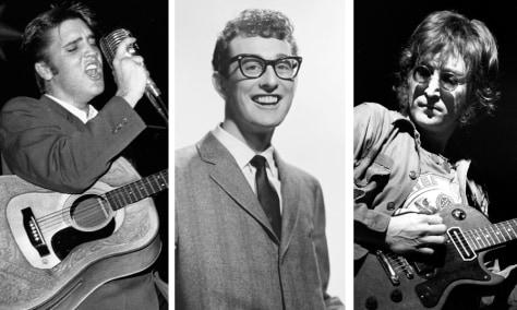 Image: Elvis Presley, Buddy Holly, John Lennon
