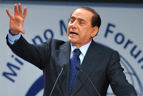 Image: Italian Prime Minister Silvio Berlusconi