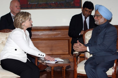 Image: U.S. Secretary of State Hillary Clinton in India