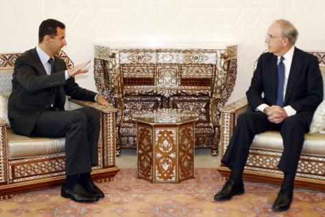 Image: Bashar Assad, George Mitchell