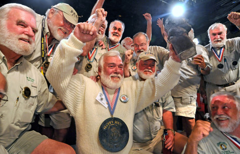 Image: David Douglas celebrates winning Hemingway Look-a-like contest