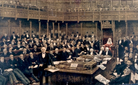 Image: British Parliament; Gladstone's Address