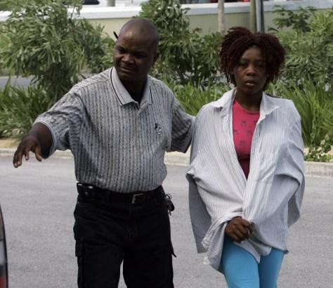 Image: Haitian boat survivor