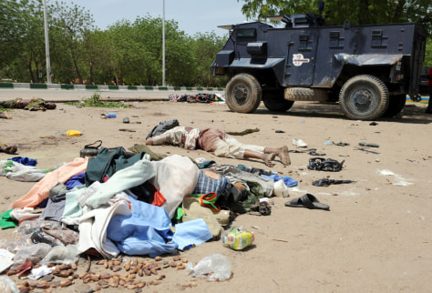 Image: Bodies of alleged militants