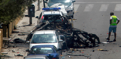 Image: Bomb wreckage