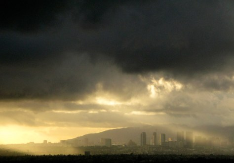 Image: Rain clouds over Los Angeles