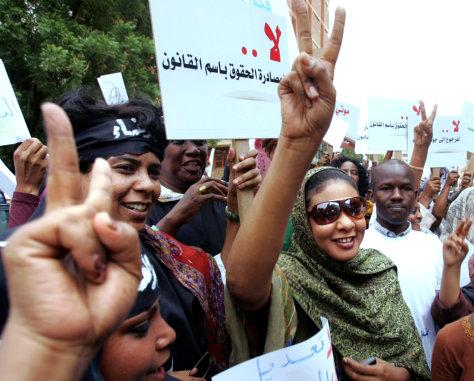 Image: Sudanese journalist Lubna Hussein
