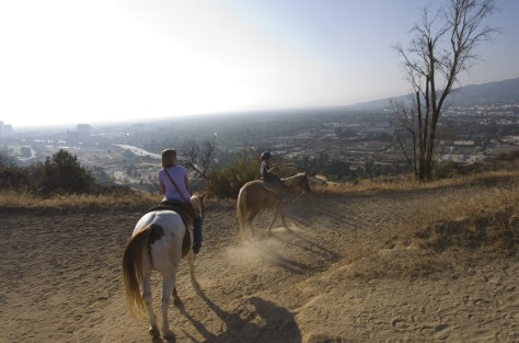 Image: L.A. on horseback