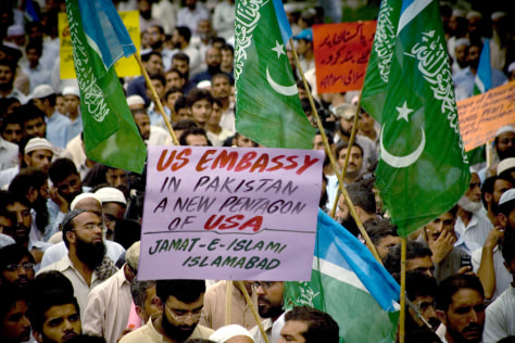 Image: Anti-American rally in Islamabad, Pakistan