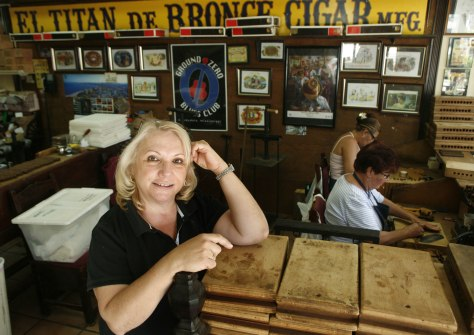 Image: Sandy Cobas, at El Titan de Bronze Cigars