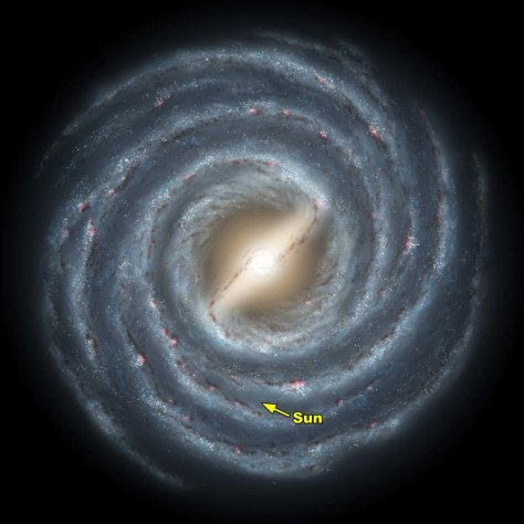 Image: Artist's concept of the Milky Way galaxy