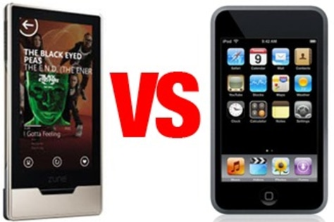Image: Zune vs. iPod