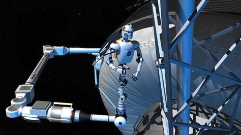 Image: autonomous space robot