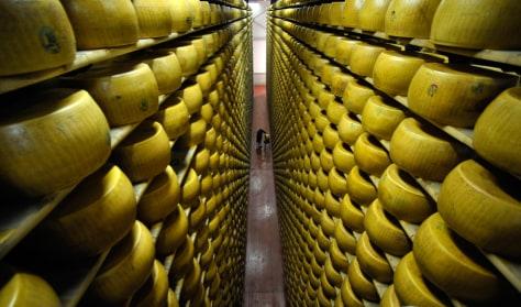 Image: Parmesan cheese vault