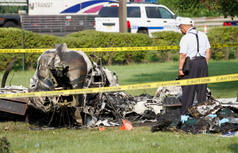 Image: Wreckage of plane near Teterboro Airport