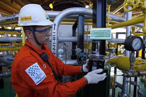 Image: Petrobras worker