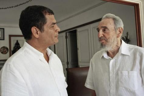 Image: Fidel Castro, Rafael Correa