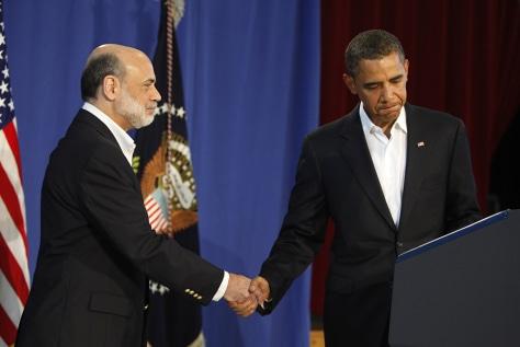 Image: Obama and Bernanke