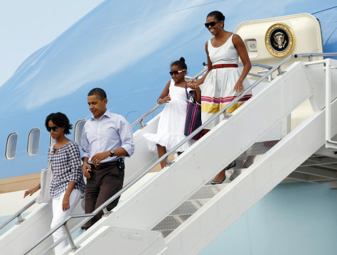 Image: Obama and family