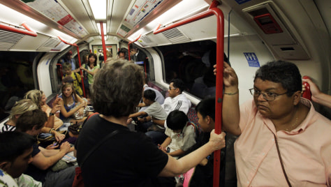 Image: Passengers on the London Tube