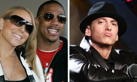 Image: Mariah Carey, Nick Cannon, Eminem