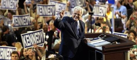 Image: Kennedy at the DNC in 2004