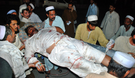 Image: victim of suicide blast