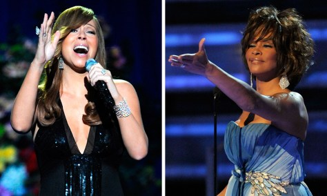 Image: Mariah Carey and Whitney Houston