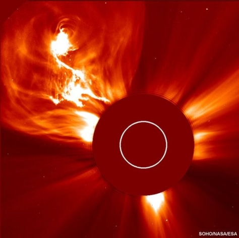 Image: coronal mass ejection