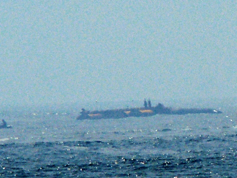Image: Submarine off the coast of New Jersey