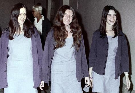 Image: Susan Atkins, Patricia Krenwinkel and Leslie Van Houten